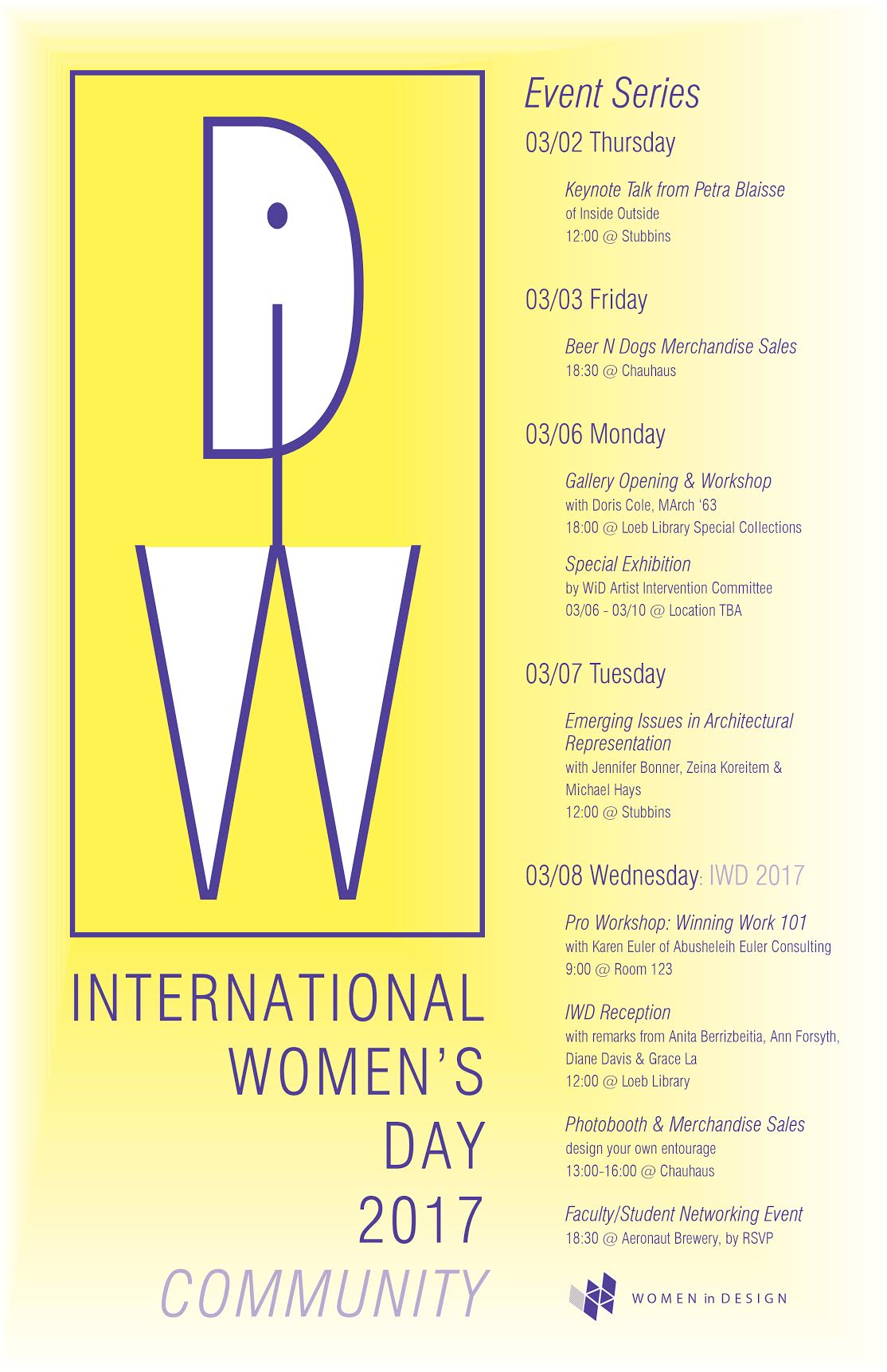 IWD Events 2017 WiD