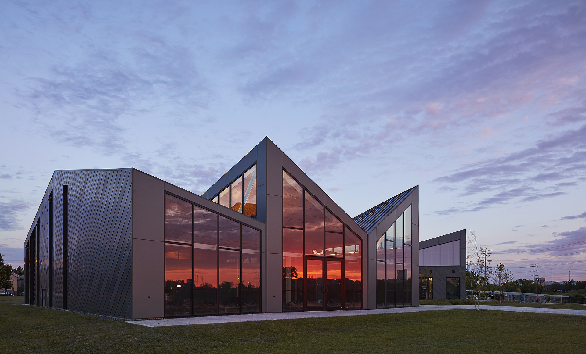 Jeanne Gang's Eleanor Boathouse at Park 571 in Chicago. Photo courtesy Studio Gang.