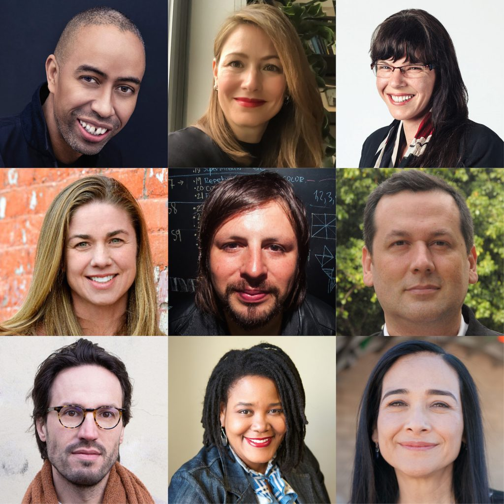 The 2018-2019 Loeb Fellows. Top, L to R: Stephen Burks, Bryna Lipper, Andrea Reimer. Middle, L to R: Katie Swenson, Michael Smith Masis, Washington Fajardo. Bottom, L to R: Michael Van Iersel, Jeana Dunlap, Maria Cabildo